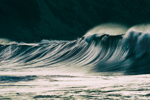 Lonely Big Wave Breaking