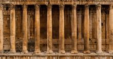 Frontal View Of A Colonnade - ...