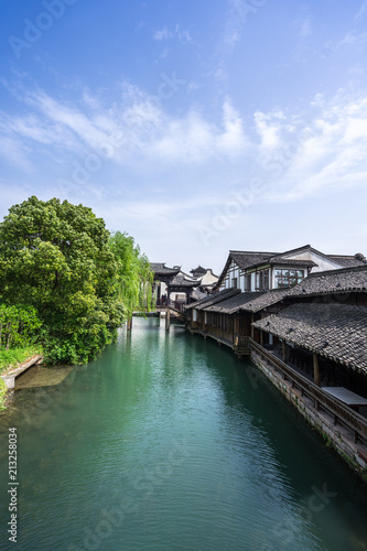 Photo  landscape of wuzhen town in china