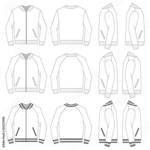 Fotografia, Obraz Vector template for Bomber Jackets