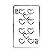 grunge ten hearts casino card game