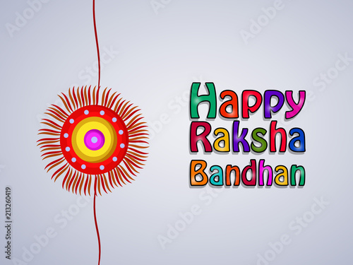 Fotografering  Illustration of background for the occasion of hindu religion festival Raksha Ba