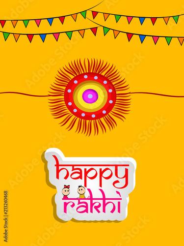 Foto  Illustration of background for the occasion of hindu religion festival Raksha Ba