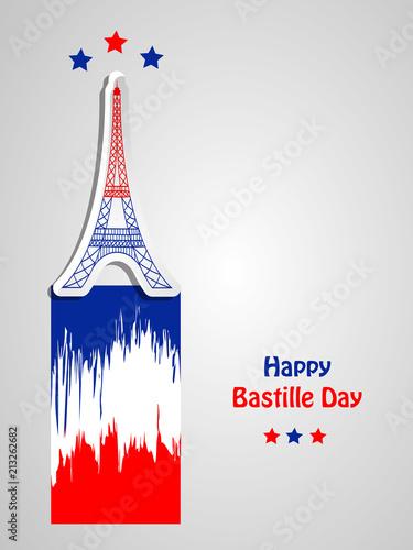 Fotografie, Obraz Illustration of background for France Bastille Day