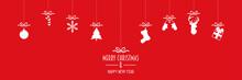 Roter Weihnachten Banner