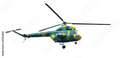 Staande foto Helicopter helicopter isolated on white background