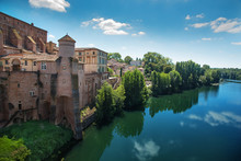 View Of Town Gaillac In France