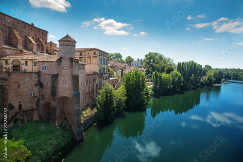 Photo View of town Gaillac in France