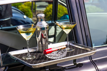 Martini Shaker, Glasses & Ciga.