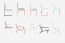 Side View Style Chairs Vector ...