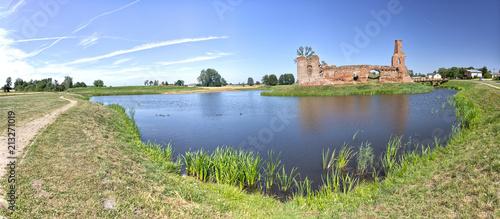 Foto op Aluminium Rudnes Besiekiery, ruiny gotyckiego zamku - Polska
