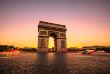 Arch Of Triumph At Twilight. A...