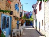 Fototapeta Uliczki - Alacati streets, touristic town in Cesme, Izmir