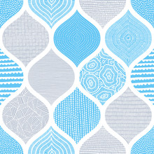 Cute Blue And White Pattern. S...