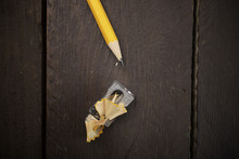 Overhead View Of Pencil With S...