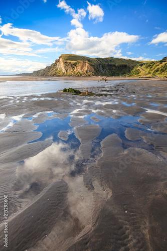 Low tide at Kai Iwi Beach, Wanganui, New Zealand Canvas Print