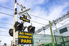 Level Crossing Street And Rail...