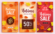 Autumn Sale Vector Poster Desi...