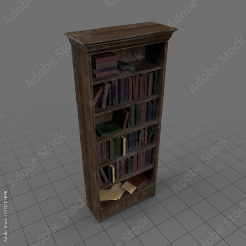 Dusty Bookshelf Buy This Stock 3d Asset And Explore Similar