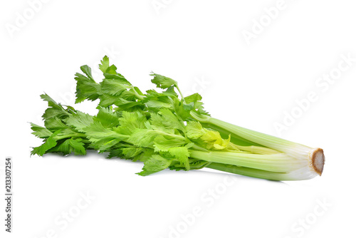 green celery vegetable isolated on white background