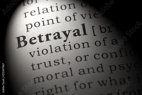 definition of betrayal Canvas Print