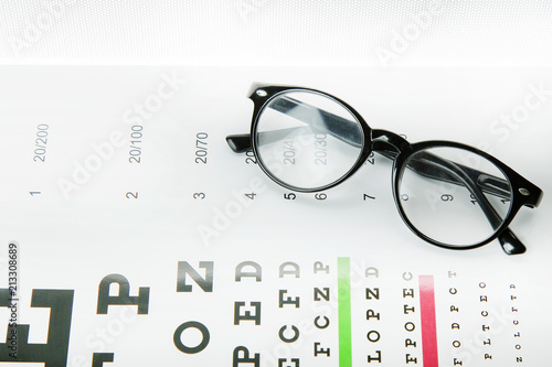 Fotografía The Diagram of checking eyes glasses Optometry medical background