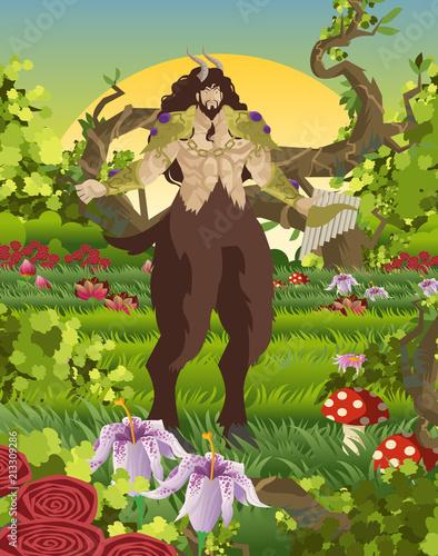 greek mythology pan god Canvas Print