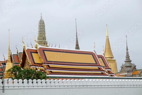 In de dag Bangkok Wat Phra Kaew - The Temple of Emerald Buddha in Bangkok, Thailand