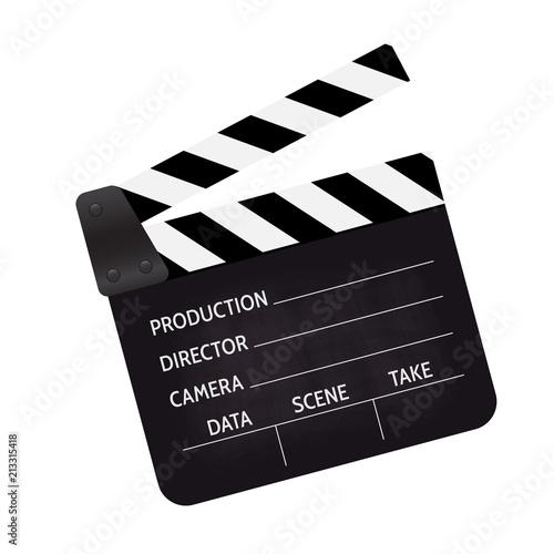 Valokuva Clapperboard - movie clapper vector
