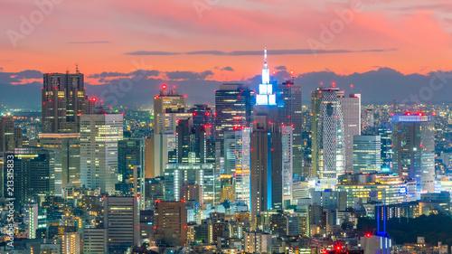 Keuken foto achterwand Asia land Tokyo skyline in Japan
