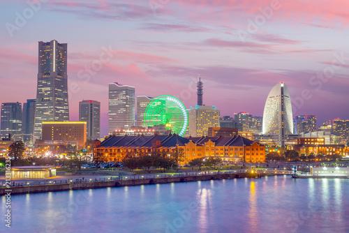 Keuken foto achterwand Asia land Cityscape of Yokohama in Japan