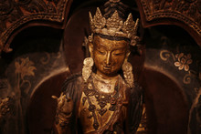 In A Buddhist Monastery In Tibet