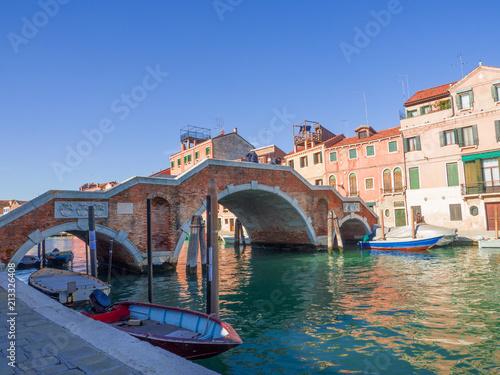 Foto auf AluDibond Venedig the famous three-arch bridge in Venice, Italy