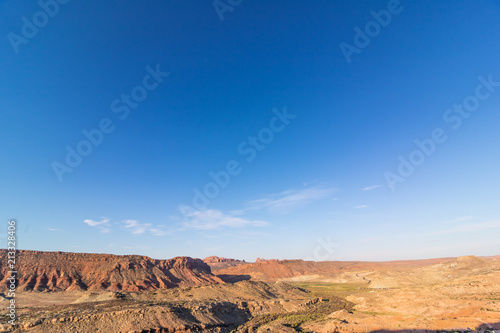 Fotografie, Obraz  Mountain view under brilliant blue sky in Arches National Park, Utah