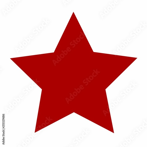Photo  typical, bright, red star