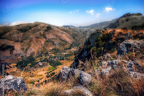 In de dag Zwart Sicilian Highlands in Italy, Europe