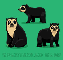 Bear Spectacled Bear Cartoon V...