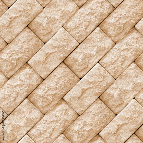 Tuinposter Stenen Seamless texture of wall stone blocks