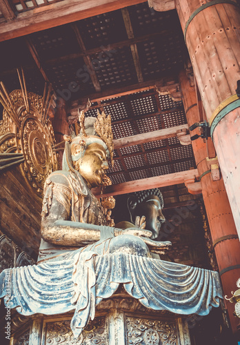 Keuken foto achterwand Asia land Vairocana buddha in Daibutsu-den Todai-ji temple, Nara, Japan
