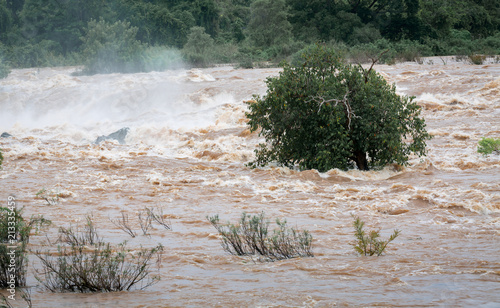 Fotografie, Obraz Water flood on river