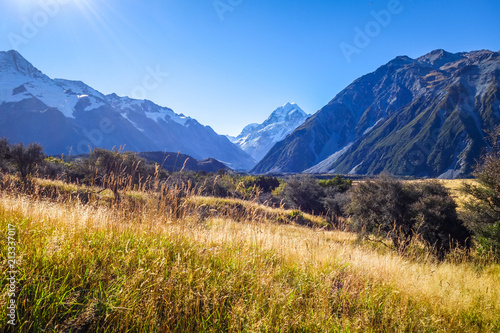 Foto op Canvas Oceanië Aoraki Mount Cook, New Zealand
