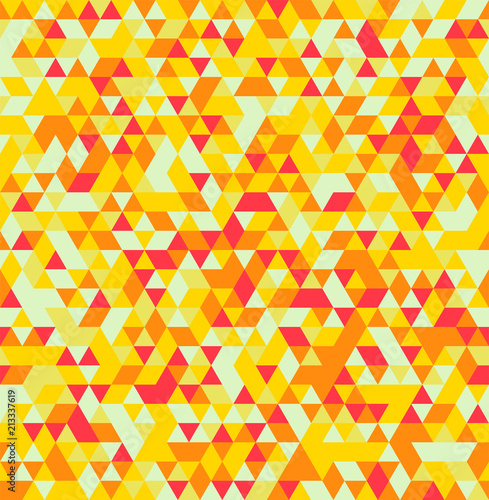 Foto op Aluminium ZigZag Abstract Triangle Geometrical Seamless Summer Background