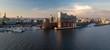 Panorama von der Elbphilharmonie in Hamburg