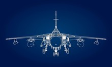 Military Jet Fighter Silhouett...