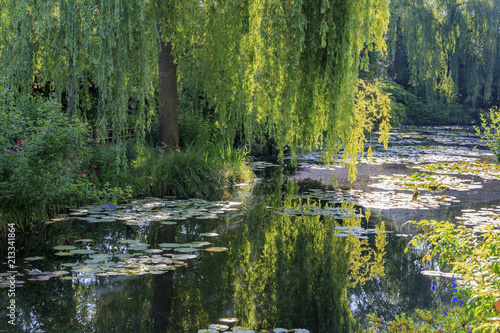 Foto  Botanical garden of painter Monet in Giverny, France