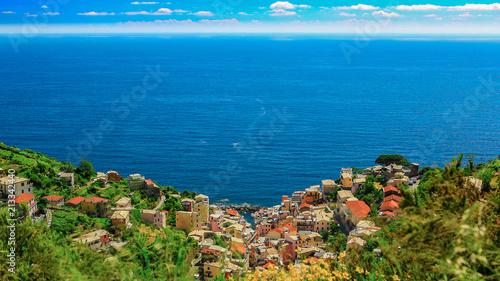 Panoramic view of Manarola, Italy