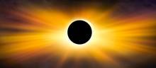 Scientific Natural Phenomenon . Full Eclipse . Beautiful Sky . Natural Phenomenon .  Total Solar Eclipse