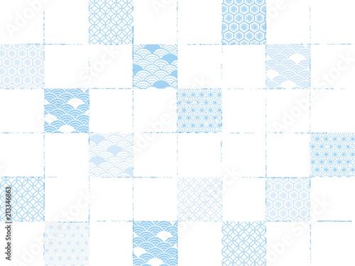チェック カラフル パターン 淡 三 Wallpaper Mural