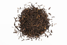 Dry Tea Leaves Isolated On Whi...