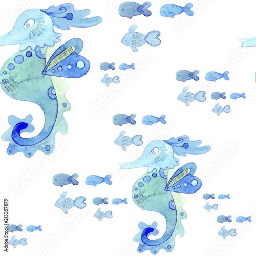 bezszwowy-wzor-morski-akwarela